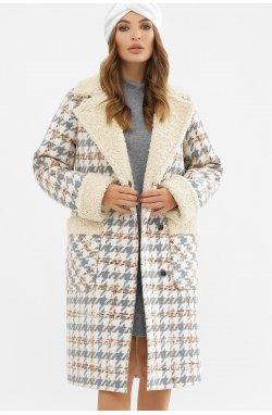 Пальто женское ПД-14-100 - GLEM, 2449-лапка серый