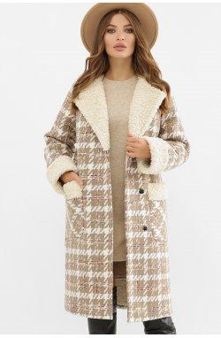 Пальто женское ПД-14-100 - GLEM, 2450-лапка коричн.