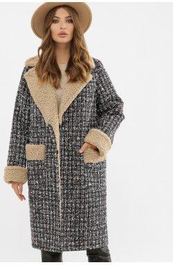 Пальто женское ПД-14-100 - GLEM, 3402-букле черный