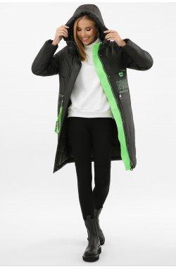 Куртка женская 297 - GLEM, 01-черный-зеленый