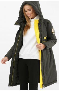 Куртка женская 297 - GLEM, 13-серо-зеленый-желт