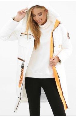 Куртка женская 297 - GLEM, 26-белый-оранжевый