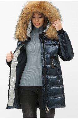 Куртка женская 8002 - GLEM, 02-синий-серебро