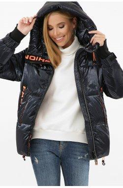 Куртка женская 8100 - GLEM, 02-т.синий-оранжевый