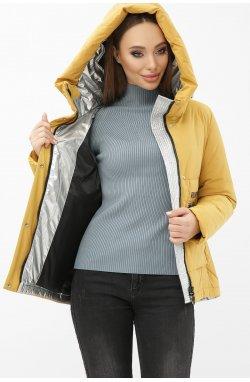 Куртка женская М-2092 - GLEM, 20-горчица-серебро