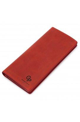 Кожаное женское матовое портмоне GRANDE PELLE 11512 Красный