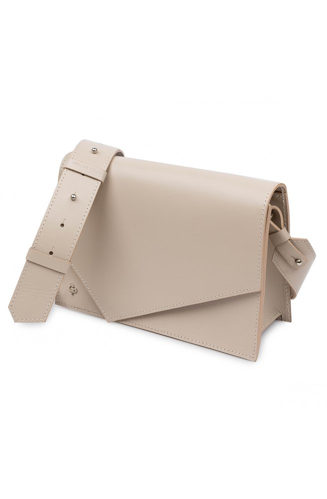Кожаная женская сумка GRANDE PELLE 11568 Бежевый