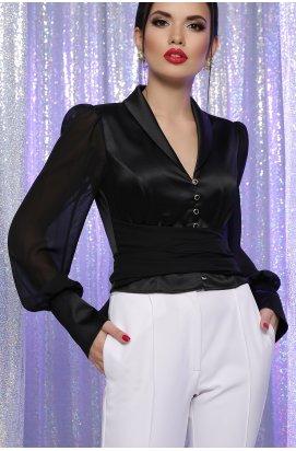 Блуза Аврил д/р - GLEM, черный