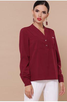 Блуза Жанна д/р - GLEM, бордо