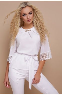 Блуза Карла д/р - GLEM, белый