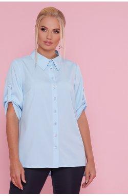 Блуза Лана-Б к/р - GLEM, голубой