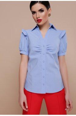 Блуза Маргарита к/р - GLEM, голубой