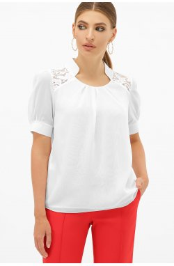 Блуза Римма к/р - GLEM, белый