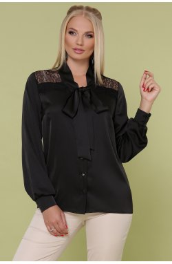 Блуза Роксана-Б д/р - GLEM, черный