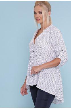 Блуза Санди-Б 3/4 - GLEM, белый-черный м. горох