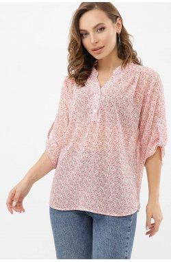 Блуза Севара 3/4 - GLEM, молоко-м. цветы