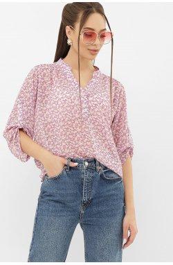 Блуза Севара 3/4 - GLEM, сиреневый-м. цветы