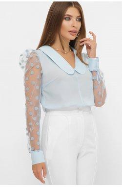 Блуза Сесиль д/р - GLEM, голубой