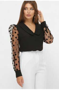 Блуза Сесиль д/р - GLEM, черный