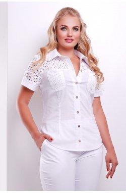 Блуза Фауста-Б к/р - GLEM, белый