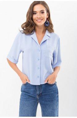 Блуза Шелви к/р - GLEM, голубой