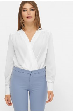 Блуза-боди Карен д/р - GLEM, белый