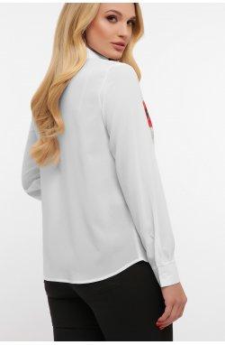 Маки Блуза Лекса-Б КШ д/р - GLEM, белый