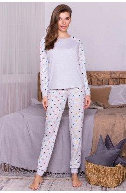 Пижама Амаль - GLEM, серый-разн. сердца