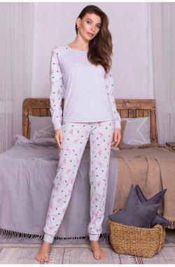 Пижама Амаль - GLEM, серый-фламинго