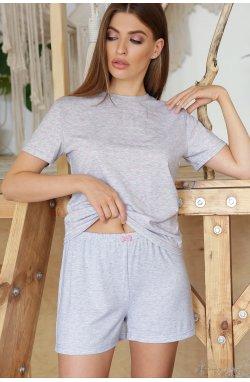 Пижама Джой-1 - GLEM, серый-розовые сердца