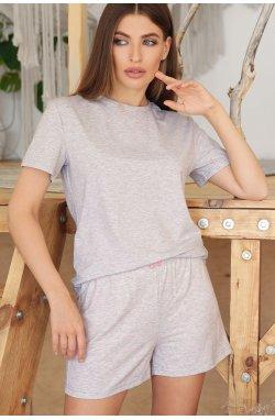 Пижама Джой-2 - GLEM, серый-розовые сердца