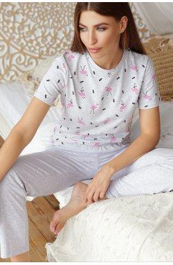 Пижама Джойс-1 - GLEM, серый-фламинго