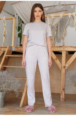 Пижама Джойс-2 - GLEM, серый-розовые сердца