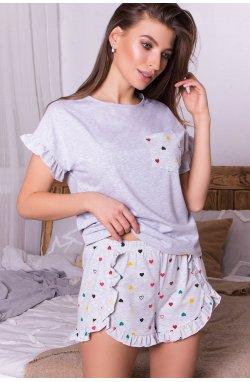 Пижама Лиэль - GLEM, серый-разн. сердца