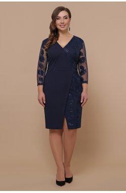 Платье Лария-Б д/р - GLEM, синий