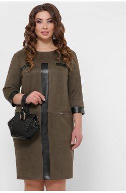 Платье Руфина-Б д/р - GLEM, хаки