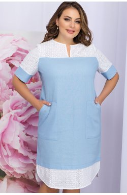 Платье Сатива-Б к/р - GLEM, голубой