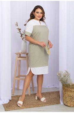 Платье Сатива-Б к/р - GLEM, оливковый