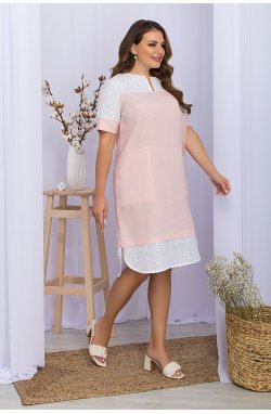 Платье Сатива-Б к/р - GLEM, пудра