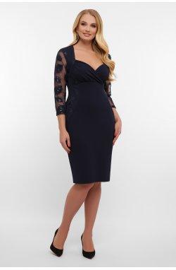 Платье Сусанна-1Б д/р - GLEM, синий