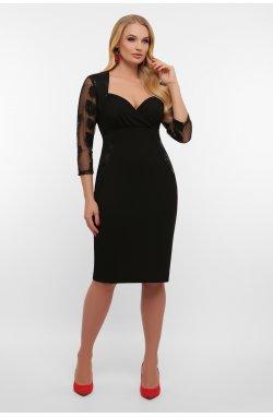 Платье Сусанна-1Б д/р - GLEM, черный