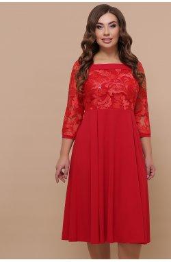 Платье Тифани Б д/р - GLEM, красный