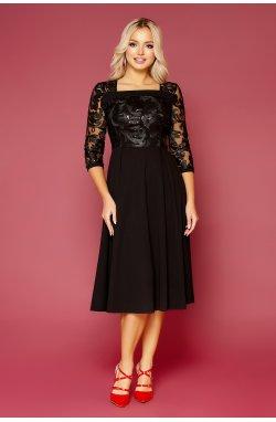 Платье Тифани Б д/р - GLEM, черный