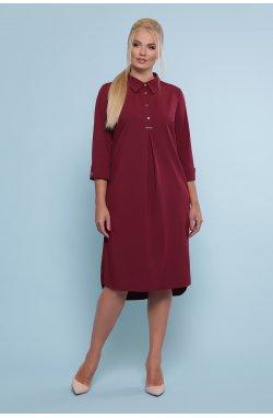Платье-рубашка Власта-Б 3/4 - GLEM, бордо