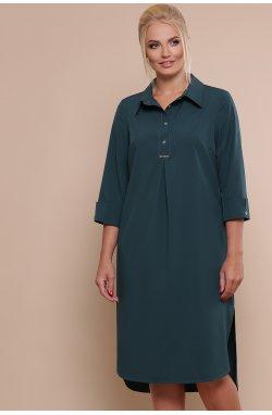 Платье-рубашка Власта-Б 3/4 - GLEM, изумруд