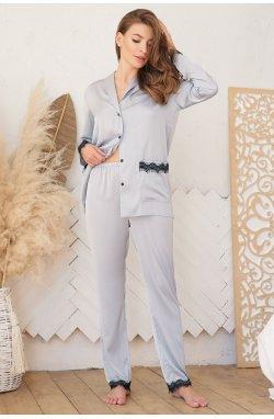 Рубашка Долорес д/р - GLEM, серо-голубой