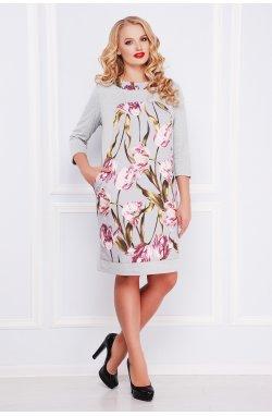 Тюльпан Платье Матильда-Б д/р - GLEM, светло серый