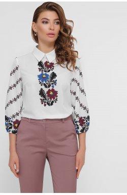 Цветы Блуза Жули 3/4 - GLEM, белый