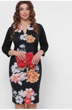 Цветы Платье Энже-Б д/р - GLEM, черный