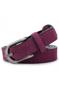 Женский тонкий замшевый ремень Vintage 20774 Фиолетовый